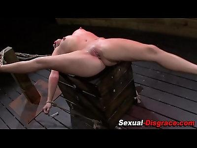 Fetish slave takes cock