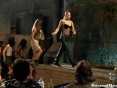 Naughty Lesbian Slave Orgy And Slave Whipping