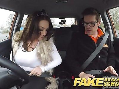 Fake Driving School busty jailbird goes on a wild ride!