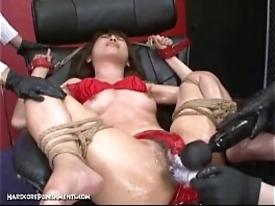 Japanese Bondage Sex Extreme BDSM Punishment of Asari Pt.