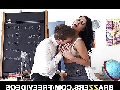 Gorgeous British prof Jasmine Jae fucks one her hung students