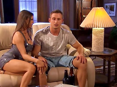 Sporting guy gets fucked by hottie wife.