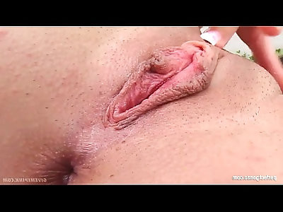 Sonja being solo masturbating on Give Me Pink with passion
