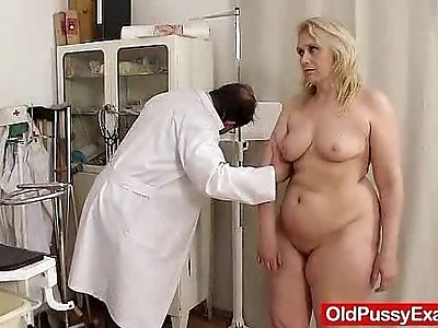Blond haired milf explored by cunt doctor