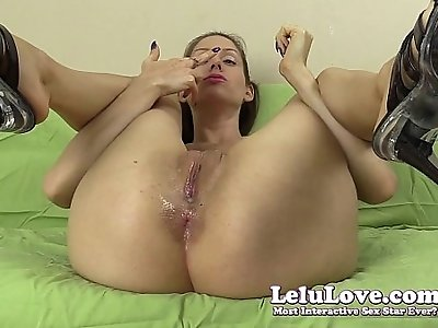 Smell my asshole and pussy licking with lots of spit and twerking