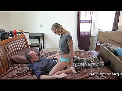 Unwanted Lapdance Blonde Learns on her Moms BF HD