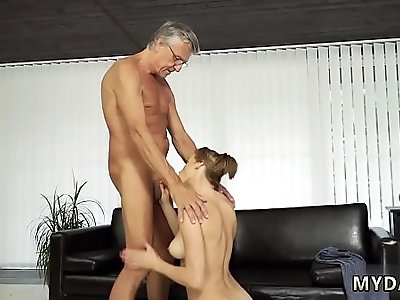 Old mixed wrestling Sex with her father after swimming