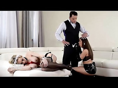 Teen Fucks French Maid with her Step Father