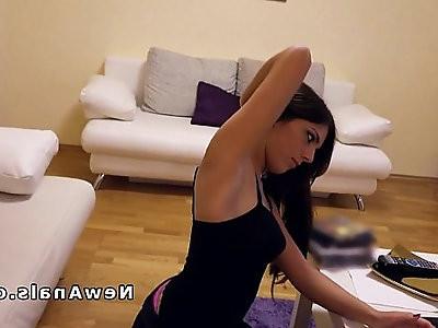 Beautiful amateur girlfriend out anal