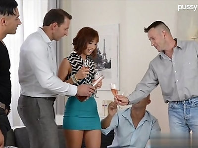 Horny cheating wife analfuck