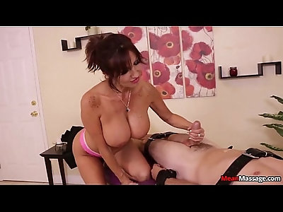 Big Titted Lady Mean Massage