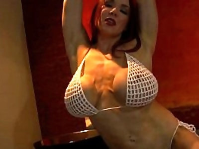 Bodybuilder in Tiny Bikini