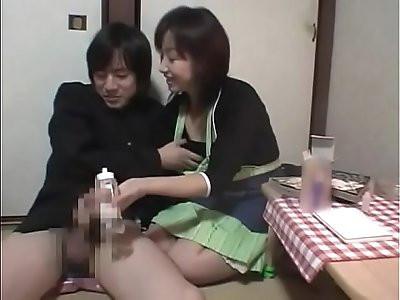Japanese Handjob Punishment Manabu Kubota Midori Yokoyama Disciplined for Shoplifting