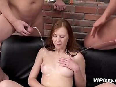Piss Drinking fuck for British redhead