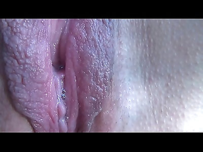 Close up pussy orgasm of mature wife