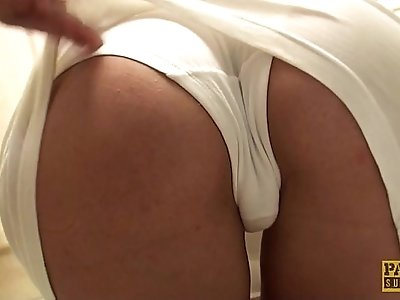 Brit sub throatfucked before spunked in gob