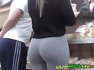 Brazilian with a great ass at the store