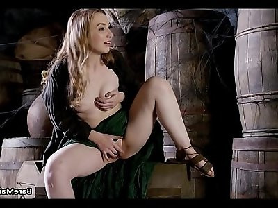 Medieval maid caught on in the pantry Gracie Green BARE MAIDENS