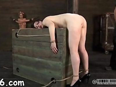 Brutal beating of babes bottom